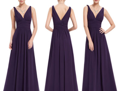 Evening,Bridesmaid Purple Dresses