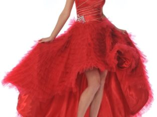 Dress by Jessica McClintock red