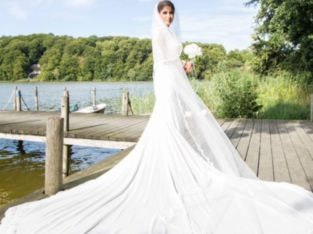 A custommade wedding dress from Denmark